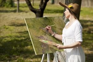 Cornwall artist painting