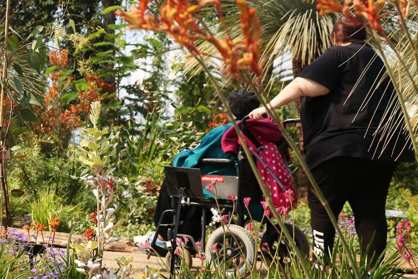 wheelchair access at Eden Project in Cornwall